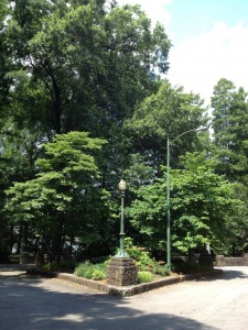 Atlanta's Original Street Light Lamp Posts in Piedmont Park