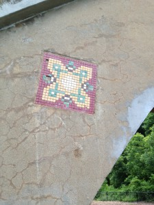 Small Tile Art, Park Drive Bridge, Piedmont Park, Atlanta