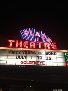 Plaza Theatre Marquee Goldeneye 50 Years of Bond