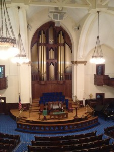 First Methodist Church Interior History Atlanta 2013
