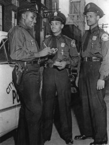 Three Police Officers Outside The Butler Street YMCA in The Early 1950s