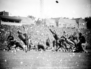 A Georgia Tech Versus Auburn Football Game In The 1940s Georgia State University Library