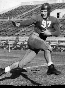 Georgia Tech Football Star Clint Castleberry In 1942 Georgia State University Library