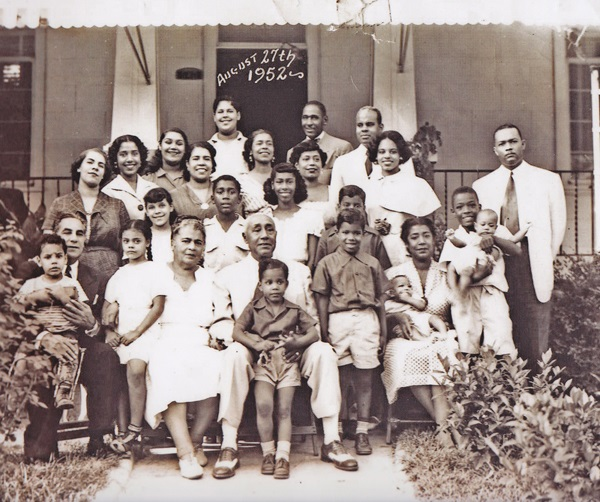 The Dobbs Family In Front Of The Family Home In August 1952 Former Atlanta Mayor Maynard Jackson Can Be Seen Standing In The Back Row Photo Courtesy of Dr. June Dobbs-Butts