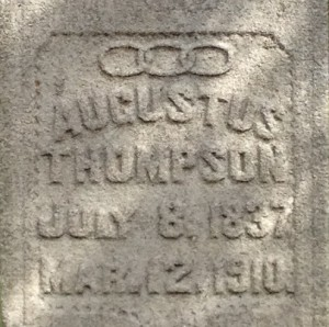A Close View Of The Grave of Augustus Thompson In Oakland Cemetery In Atlanta - History Atlanta 2013
