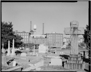 A General View Of Oakland Cemetery From The East Including  Cabbagetown District, Boulevard, Pearl Street, Memorial Drive & Railroad Tracks In The 1930's - U.S. Library Of Congress