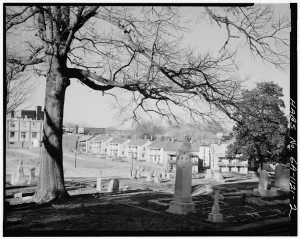 A View Of Oakland Cemetery From The Northeast Showing Mill Housing In The 1930's - U.S. Library Of Congress