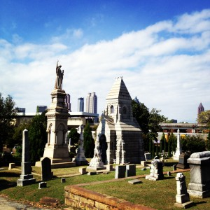 Downtown Atlanta From Oakland Cemetery - History Atlanta 2013