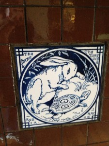 Ivy Hall Fireplace Tiles - Hare and Tortoise - History Atlanta 2013