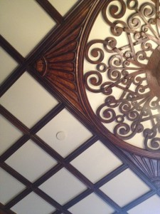 Ivy Hall Front Hall Ceiling - History Atlanta 2013