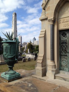Old Victorian Era Mausoleums Combine With Views Of Downtown Atlanta Skyscrapers - History Atlanta 2013