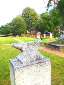 The Anvil On The Tombstone Of Augustus Thompson In Oakland Cemetery - History Atlanta 2013