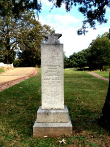 The Tombstone of Augustus Thompson In Oakland Cemetery In Atlanta - History Atlanta 2013
