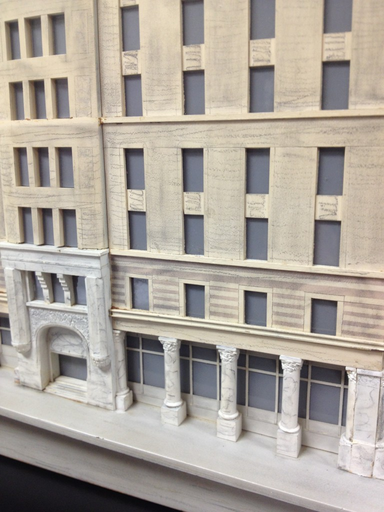 Close Up of Model of the Equitable Building Constructed in 1965 from the Trust Company of Georgia Collection at Emory University's Manuscripts, Archives and Rare Books Library - History Atlanta 2013