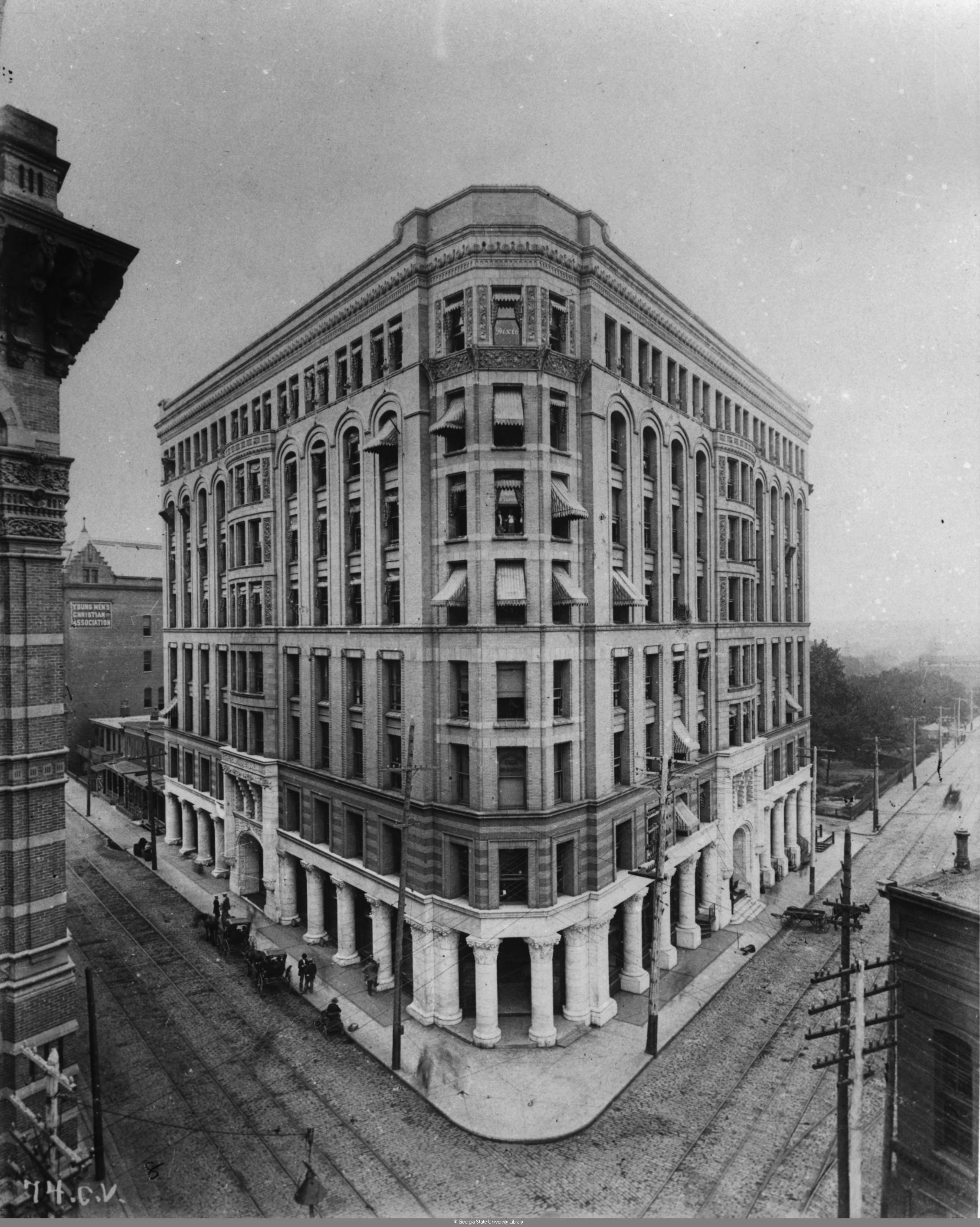 One Of The Earliest Known Pictures The Equitable Building Probably Taken Soon After It Was Completed In 1892 - Georgia State University Library