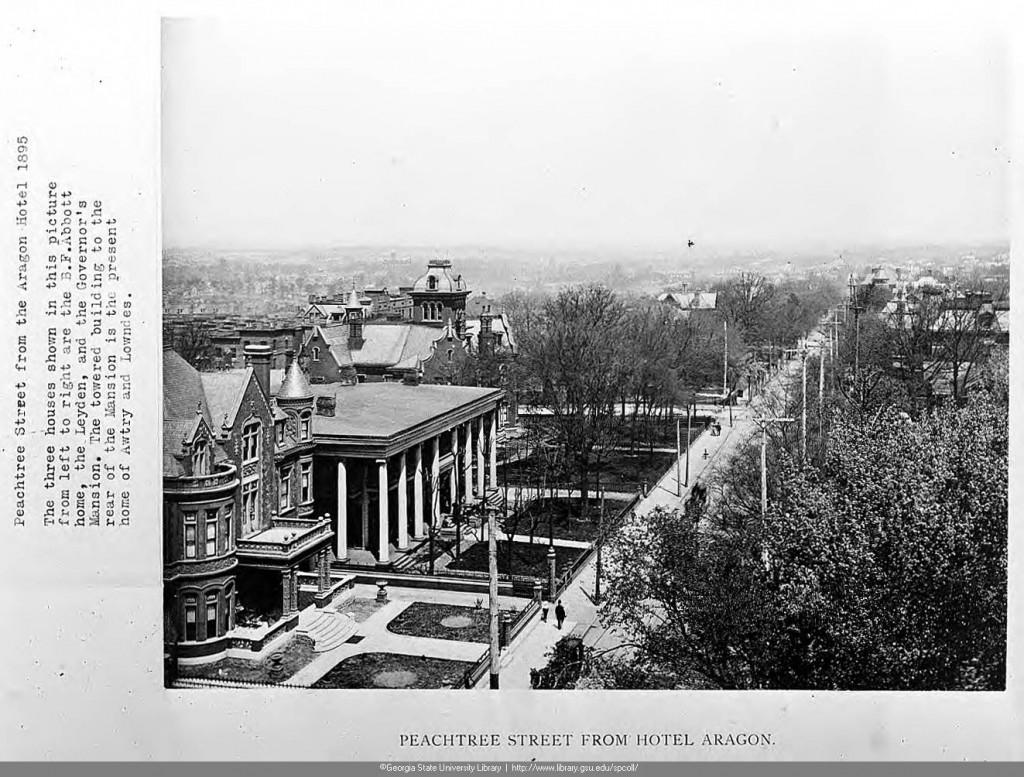 Peachtree Street In 1895 View From Hotel Aragon - Georgia State University Library