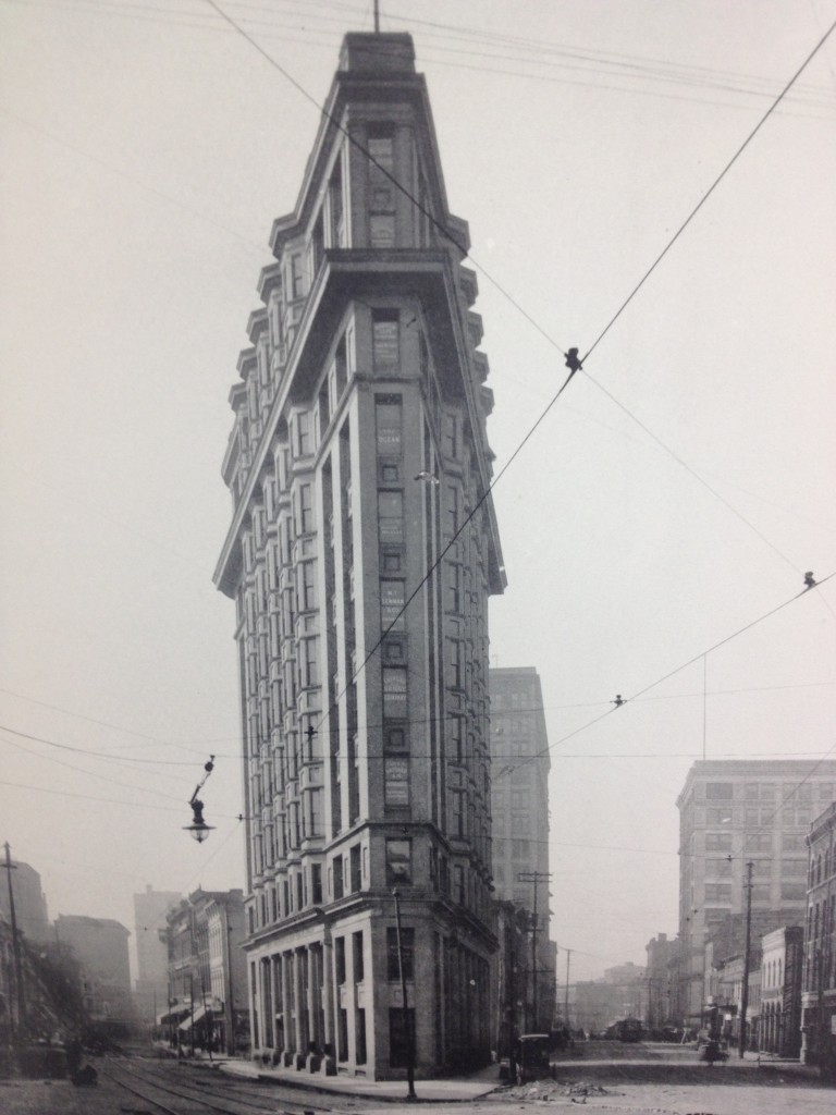 The English-American Building, Now Known as the Flatiron Building in a 1903 Book of Artwork and Pictures of Atlanta Buildings Held by MARBL at Emory - History Atlanta 2013