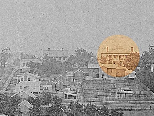 The Leyden House In 1864 Atlanta - George Barnard 1864