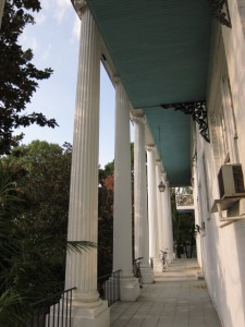 The Old Leyden House Columns At Peachtree Circle Apartments, Formerly The Woodberry School Building - Ray Keen 2013