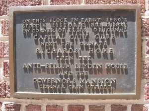 The Plaque On 200 Peachtree Center In Atlanta, The Former Site Of The Leyden House - Ray Keen 2013