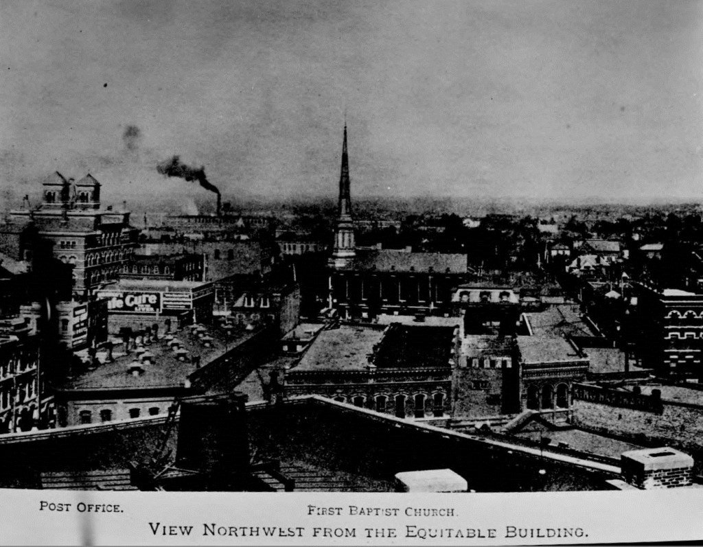 The View Nortwest From The Equitable Building In Atlanta In The 1890s 0r 1900s - Georgia State University Library