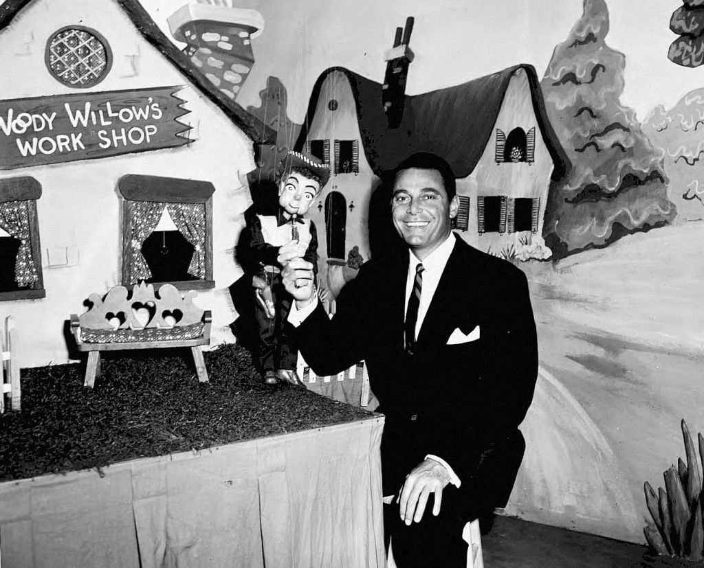 Jon Hall of Ramar of the Jungle on the Woody Willow Show in 1954 - Georgia State University Library