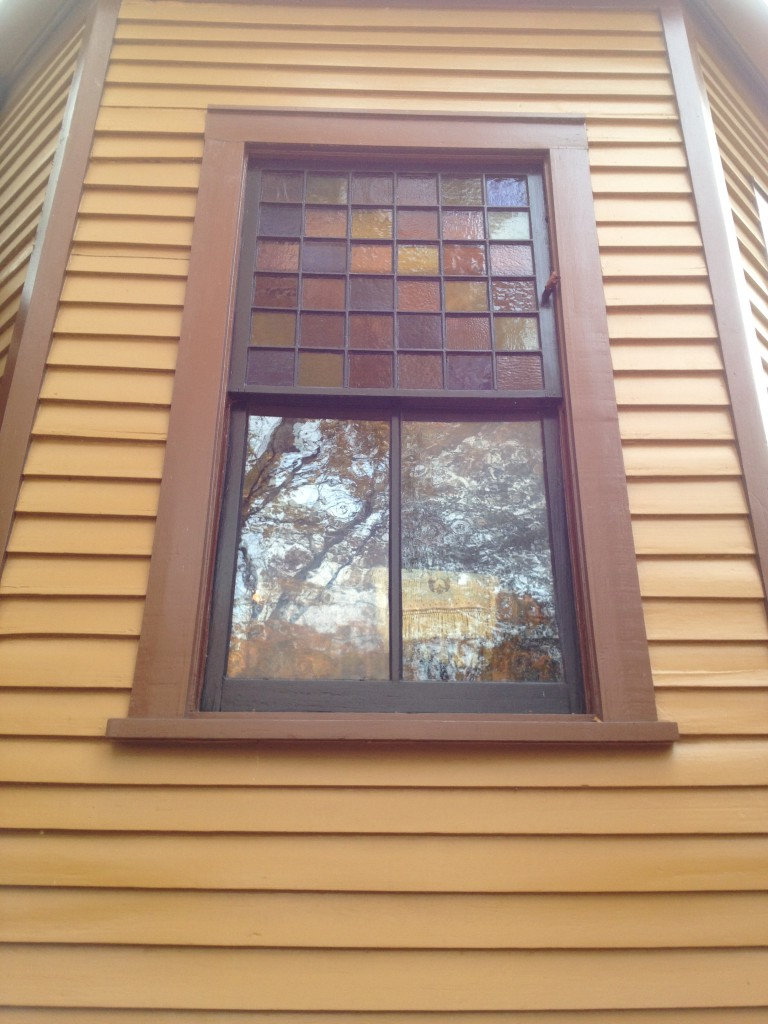 Side Window with Multi-Color Stainglass at The Wren's Nest - History Atlanta 2013