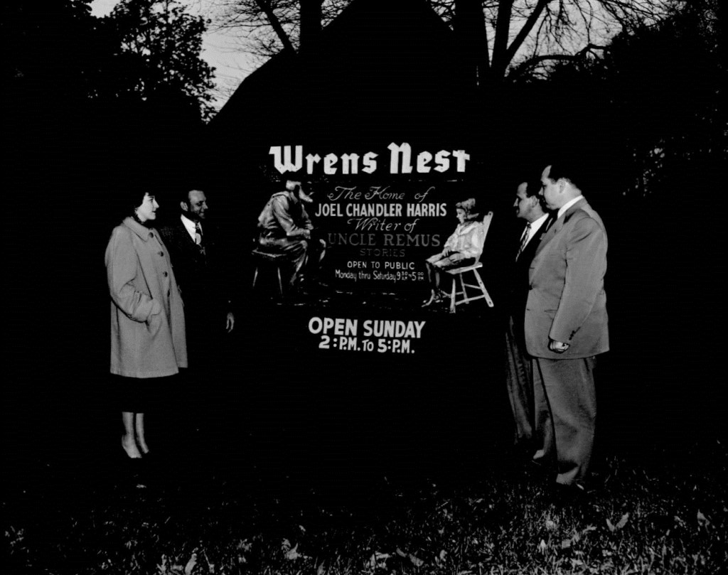 The Wrens Nest Sign on February 14th, 1952 - Georgia State University Library