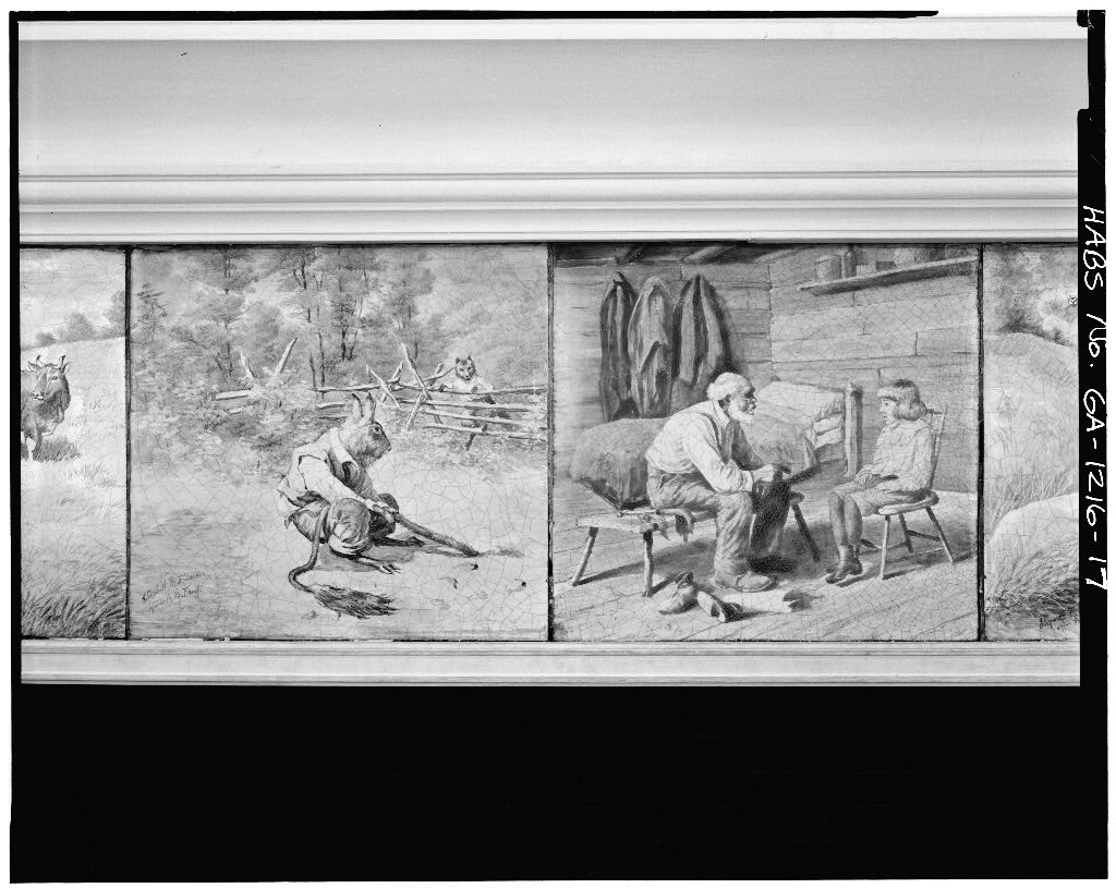 Uncle Remus Mantle Tiles in the Basement Reading Room of the Carnegie Library of Atlanta, 126 Carnegie Way - US Library of Congress