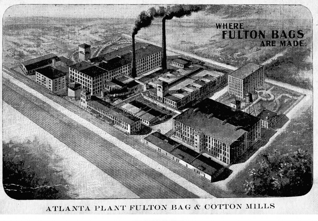 Aerial View of Atlanta's Fulton Bag Cotton Mills in 1914 - Georgia State University Library