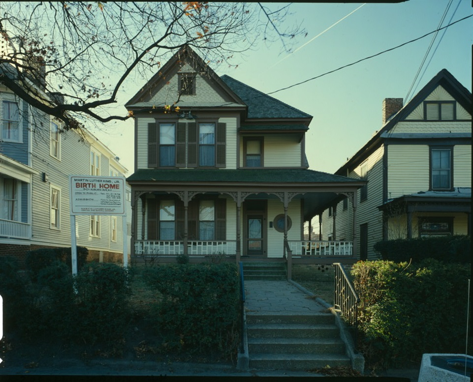 Martin Luther King, Jr. Birth Home in the 1980's - U.S. Library of Congress