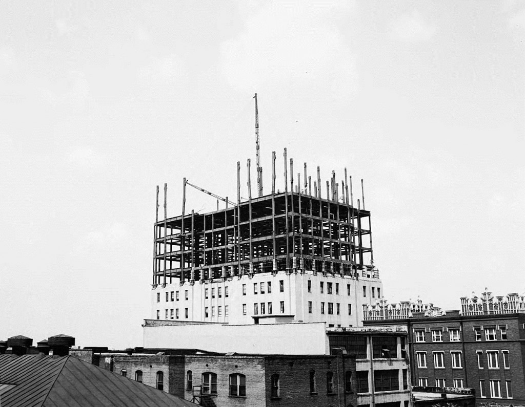 Southern Bell Telephone Building Additional Floors Under Construction on July 19th, 1946 - Georgia State University Library