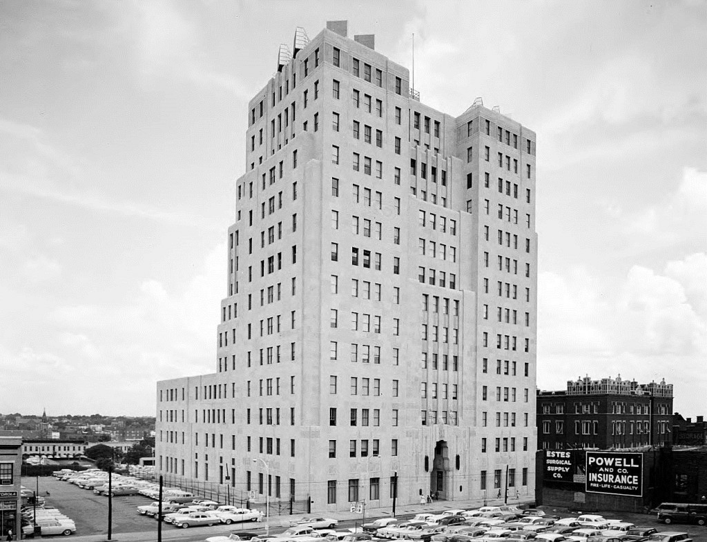 Southern Bell Telephone & Telegraph Building at 51 Ivy Street (now Peachtree Center) on August 8th, 1961 Before the Tower Addition - Georgia State University Library