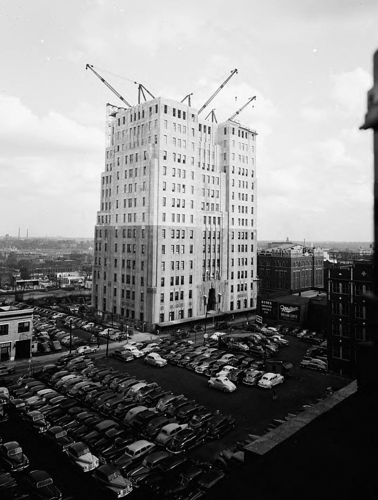 Southern Bell Telephone & Telegraph Company Building Under Construction on March 3rd, 1947 - Georgia State University Library