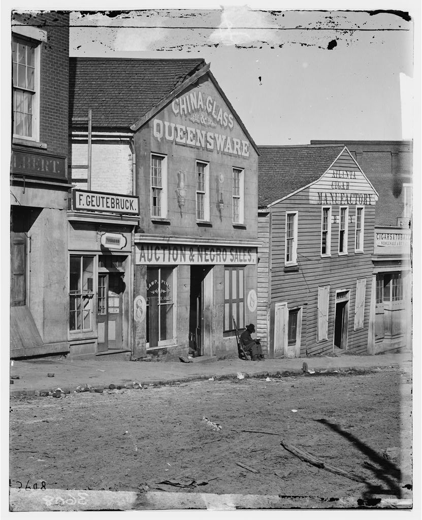 A Well Kow Image from Atlanta History - A Slave Auction House at 8 Whitehall Street in 1864 - US Library of Congress