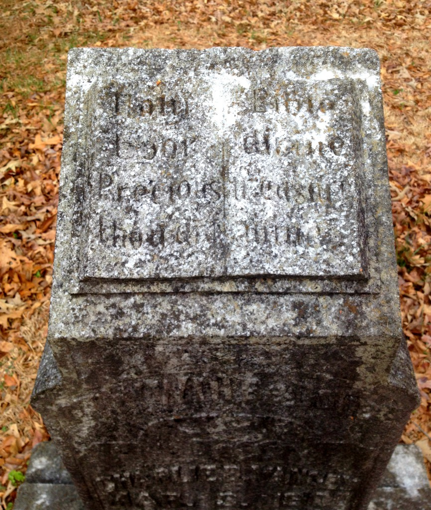 Close Up of the Charlie Yancey Gravestone in Sylvester Cemetery in East Atlanta - History Atlanta 2014