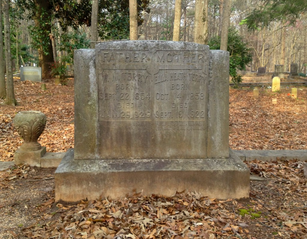 One of the Terry Clan in The Terry Family Plot in Sylvester Cemetery in East Atlanta - History Atlanta 2014