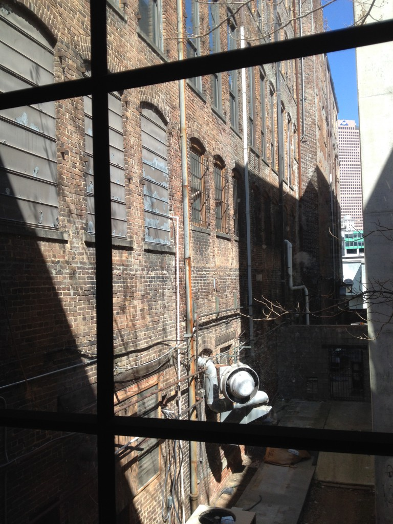 The Alleyway Behind The M. Rich Building - Atlanta Police Used to Keep Confiscated Farm Animals Here - History Atlanta 2014