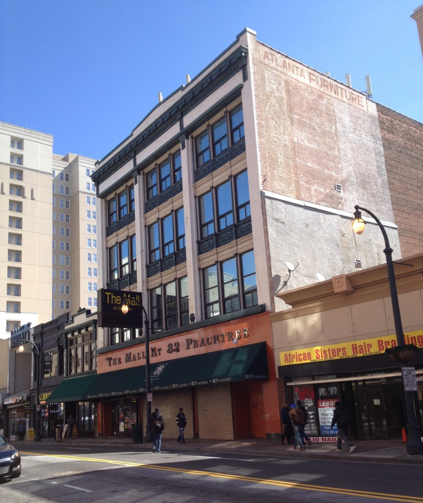 The M. Rich Building 52-56 Peachtree Street Front - History Atlanta 2014