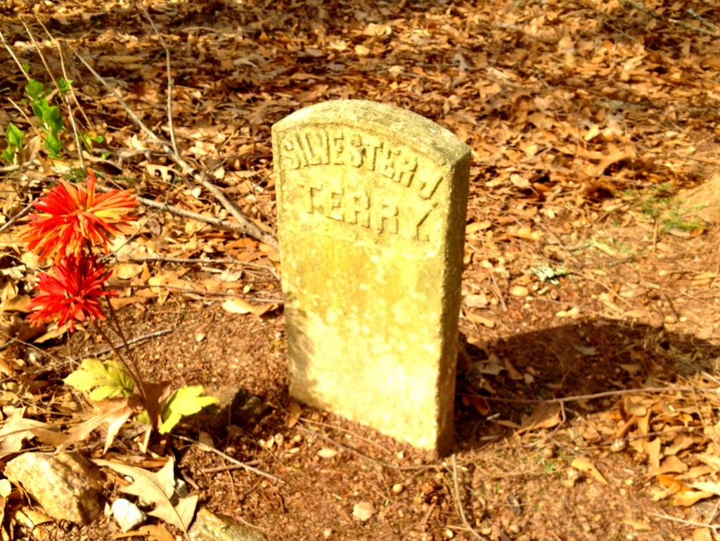 The Namesake of Sylvester Cemetery in East Atlanta - The Grave of Sylvester Terry Spelled Wrong As Silvester - Elenor Brown Died 1838 - History Atlanta 2014
