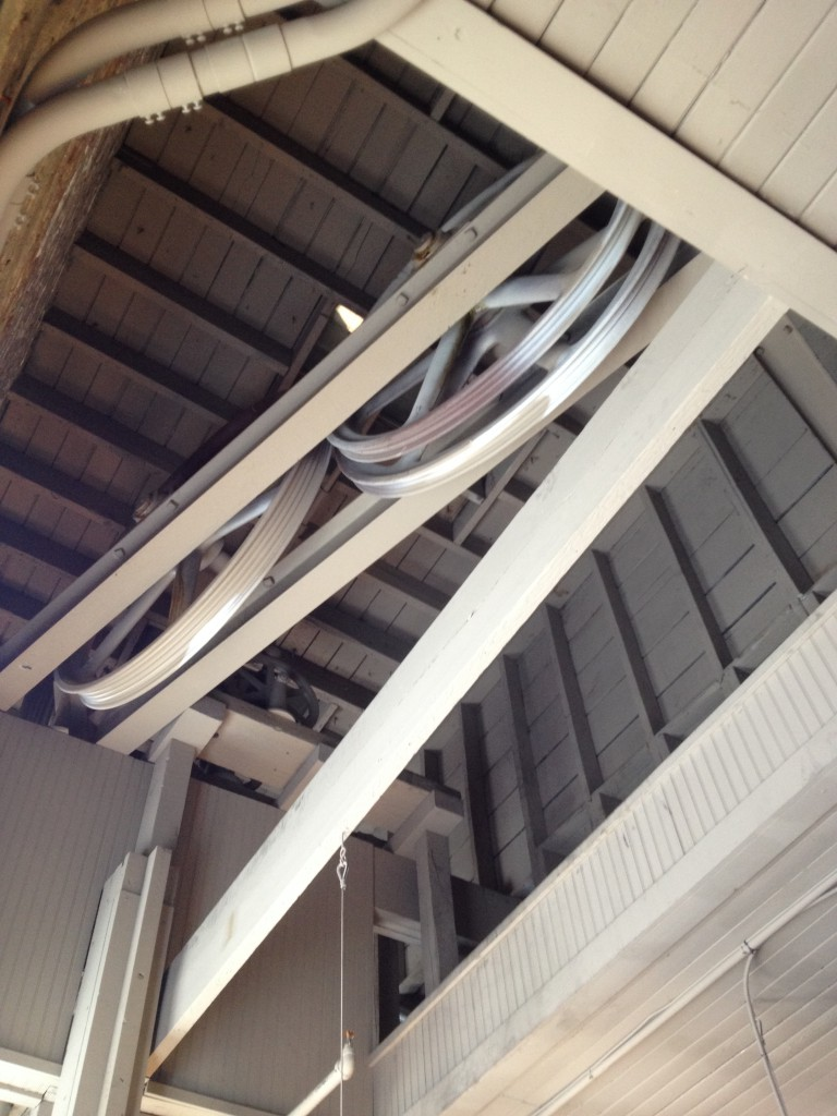 The Pulleys For The Passenger and Freight Elevators In The M. Rich Building - History Atlanta 2014