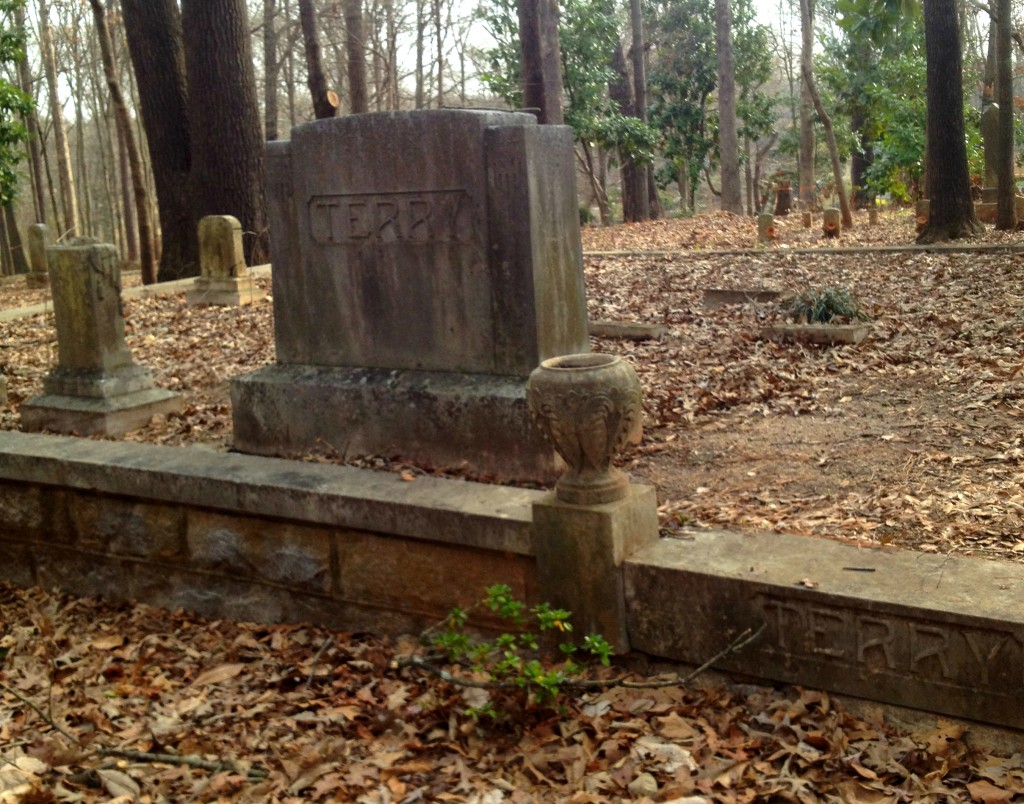 The Terry Family Cemetery in Sylvester Cemetery in East Atlanta - History Atlanta 2014