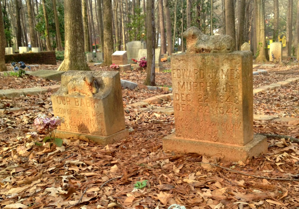 Two Child Graves in Sylvester - Many of the 250 Unmarked Graves are Children - History Atlanta 2014