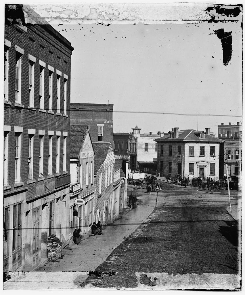 View of Whitehall Street in 1864 - US Library of Congress