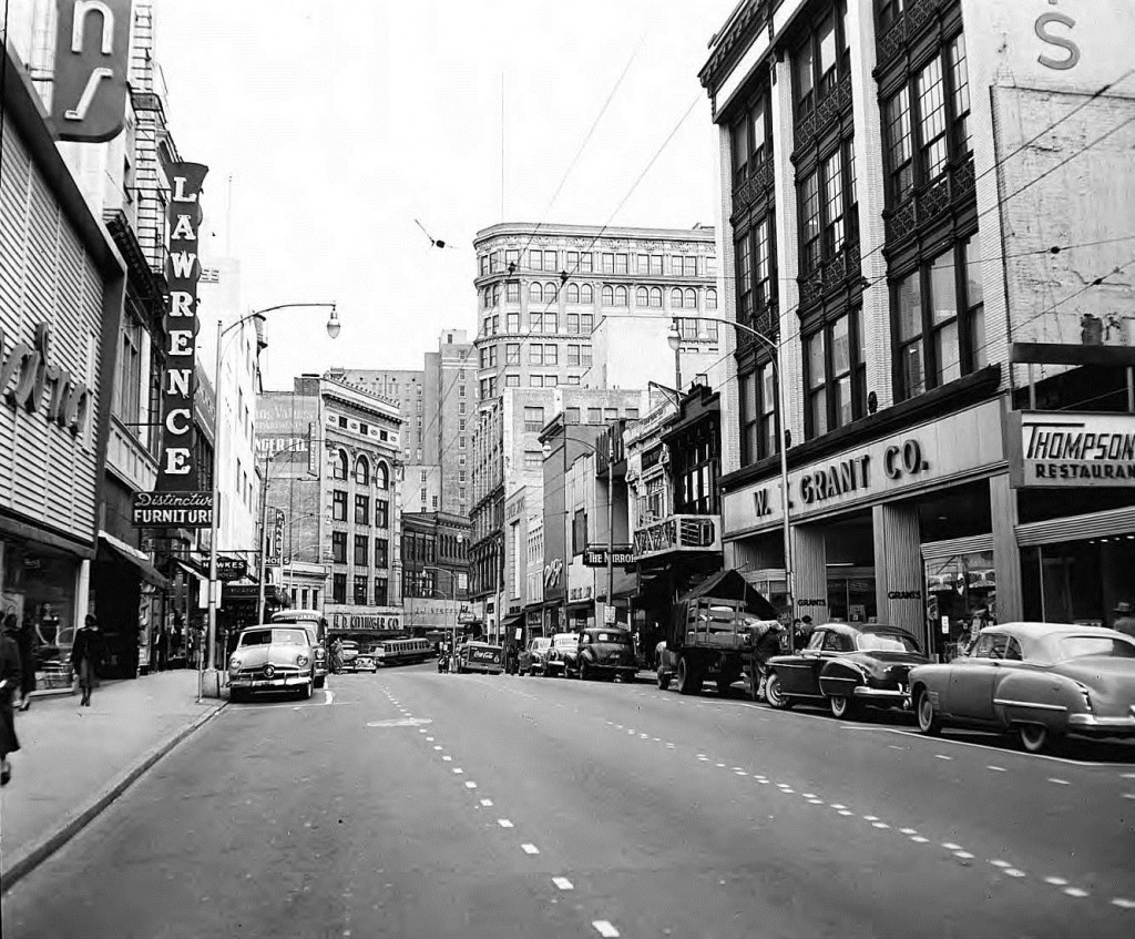 Whitehall Street in 1953 - Georgia State University Library