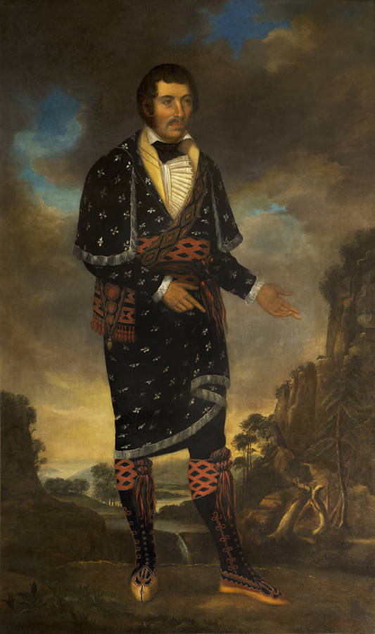 William McIntosh - Portrait by Nathan and Joseph Negus of the Chief of the Lower Creek Indians in Georgia in 1821 - Alabama Dept. of Archives and History