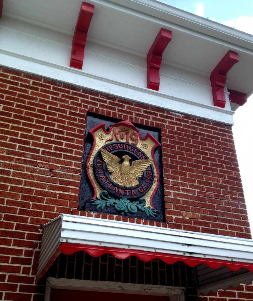 Above The Front Door of the Atlanta Fire Station No. 19 - History Atlanta 2014