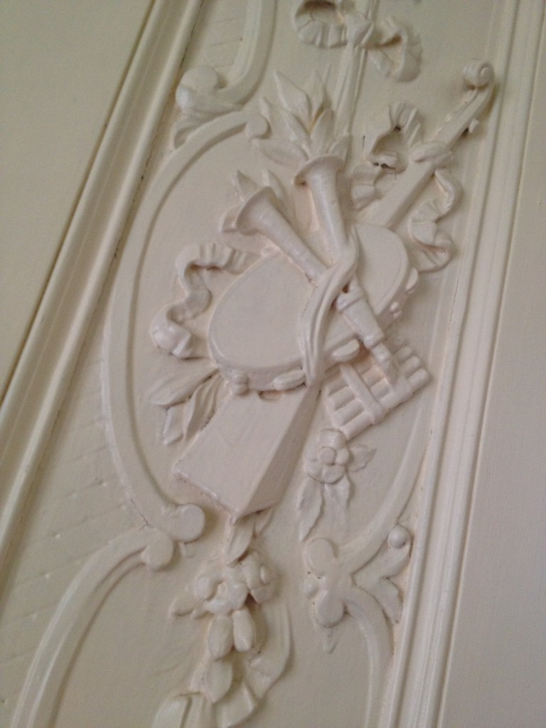 Carvings of Musical Instruments in the Music Room at the Shellmont Inn - History Atlanta 2014