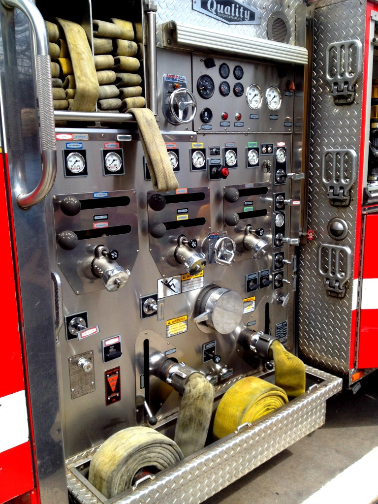 Close Up of the Fire Truck at Atlanta Fire Station No. 19 - History Atlanta 2014