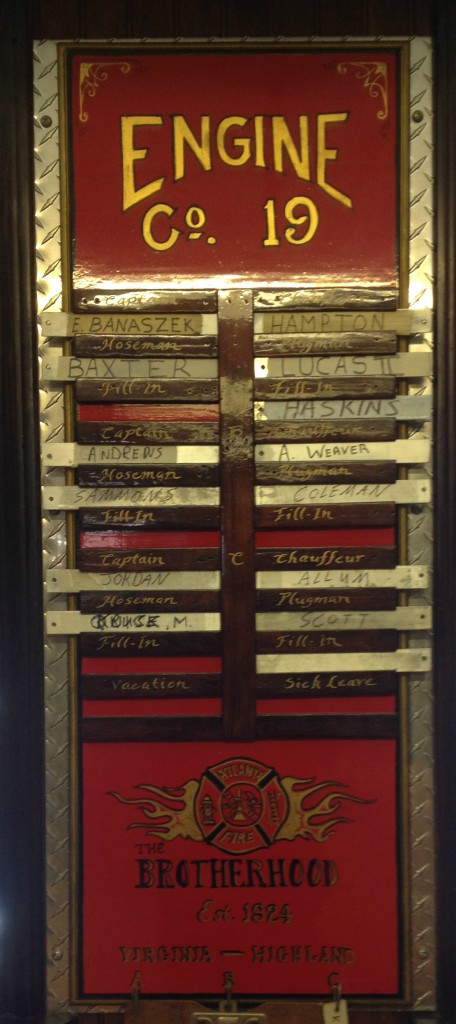 Duties Board at Atlanta Fire Station No. 19 - History Atlanta 2014